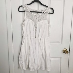 BCBG White Dress with Lace